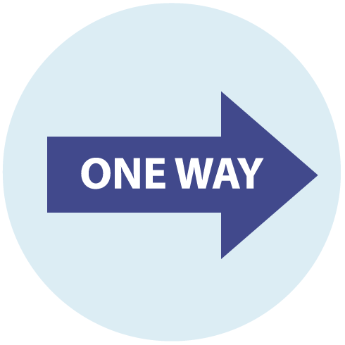 One-Way System Icon