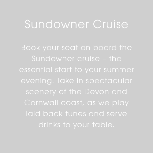 Plymouth Boat Trips - Sundowner Cruise Text