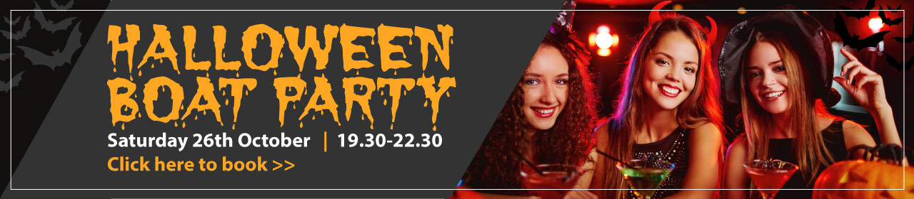 Halloween Boat Party Banner