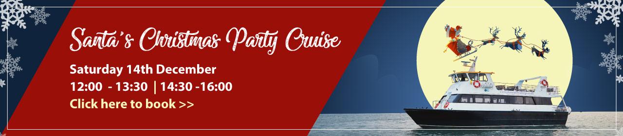 Santa's Christmas Party Cruise Banner